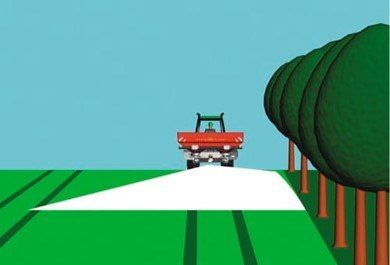 Kantspreder gjodsling presisjon miljo illustrasjon Kverneland