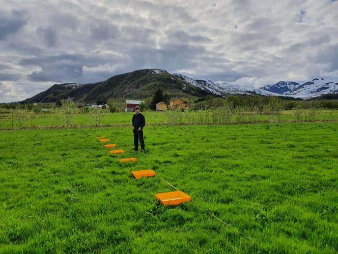 Innstilling mineralgj spreder Foto av Eirik A Kristiansen