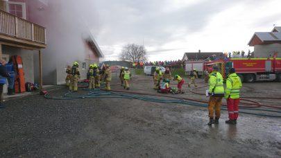 Brannøvelse i driftsbygning i Orkdal
