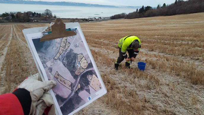 Skifteplan mobil og fordelen med koordinatfestede jordprover og styrefiler Foto Truls Olve T Hansen
